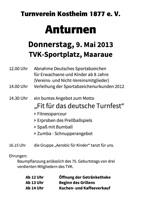 Der Flyer zum Anturnen 2013