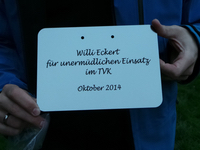 Schild der Willi Eckert Eiche