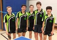 Die Meistermannschaft der Jugend Simon Henz, Domin Menne, Tristan Lüpke, Marcel Fieguth und Shanon Menne <br />(von links nach rechts)