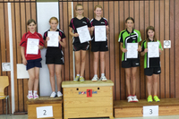 Das Foto zeigt Vivien Habel und Lea Weißenfels (ganz rechts) bei der Siegerehrung