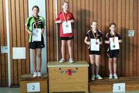 Vivien Habel (ganz links) bei der Siegerehrung der Kreiseinzelmeisterschaften 2014