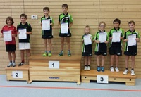 Siegerehrung Tischtennis-Kreiseinzelmeisterschaften 2015 Schüler C Doppel