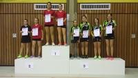 3. Plätze bei den Tischtennis-Kreiseinzelmeisterschaften 2016 im A-Schülerinnen Doppel Vivien Habel/Lea Weißenfels und Jette Wentz/Lisa Fontheim (von rechts nach links)