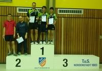 2. Herrenmannschaft Kreispokalsieger der 2. Kreisklasse. Auf dem Foto von links nach rechts Michael Hartmann, Domin Menne und Shanon Menne.