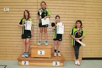 Tischtennis-Vereinsmeisterscahften 2015 - Siegerehrung Mädchen