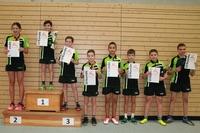 Tischtennis-Vereinsmeisterscahften 2015 - Siegerehrung Fortgeschrittene