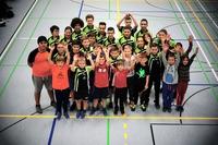 Die große Gruppe der Mädchen und Jungen nach den Tischtennis-Vereinsmeisterschaften 2016