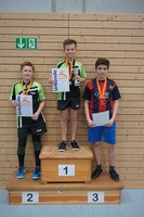 Siegerehrung Tischtennis-Vereinsmeister 2016 Jungen